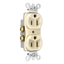 15A, 125V Dual-Controlled Plug Load Controllable Receptacle, Light Almond