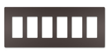 radiant® Six-Gang Screwless Wall Plate
