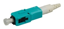 SC PC reusable connector, field-installable, 50/125 LOMF