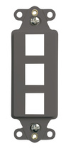 3-Port Decorator Outlet Strap, Gray
