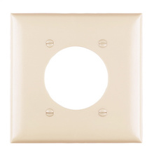 Power Outlet Receptacle Openings, Two Gang, Gray