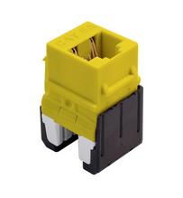 Cat 6a Quick Connect RJ45 Keystone Insert, Yellow