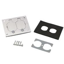 Omnibox® Rectangular Aluminum Duplex Cover Plate