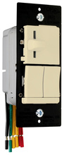 LS TradeMaster Incandescent Slide Dimmer & Switch, Ivory