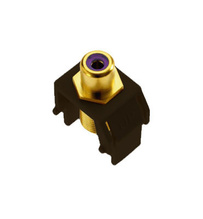 Purple RCA to F-Connector, Brown