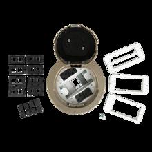 6AT Prewired Evolution™ Poke Thru Device, Flush Style Cover, Brass