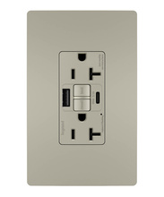 radiant® 20A Tamper-Resistant Self-Test GFCI USB Type-AC Outlet, Nickel