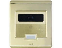 Selective Call Intercom Video Door Unit, Shiny Brass