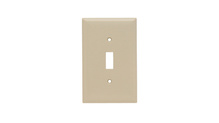 Toggle Switch Openings, One Gang, Ivory