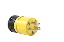 20A, 125V Rubber Dust-Tight Plug, Yellow