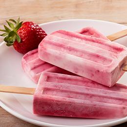 Strawberry and Cream Pops