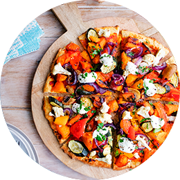 Protein+ Spicy Roast Vegetable Pizza
