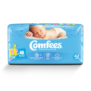 CMF-N - Comfees Baby Diapers, Newborn, 42 count