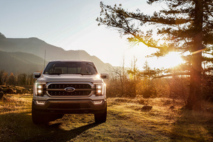 Ford F-150 with sunset in background