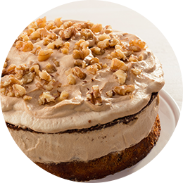 Coffee and Walnut Cream Cake