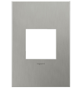 Brushed Stainless, 1-Gang Wall Plate