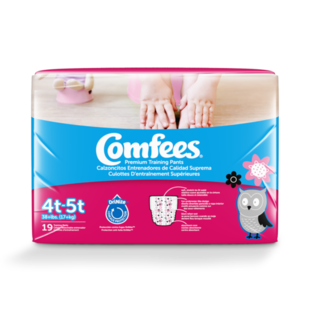 CMF-G4 -  Comfees Training Pants Girls, 4T/5T, 19 count