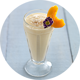 Peach and Apricot Rice Pudding Smoothie