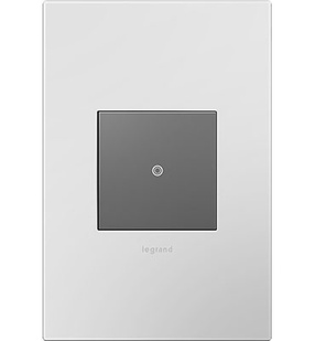adorne® Powder White One-Gang Screwless Wall Plate