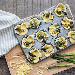 Asparagus & Cheese Pies