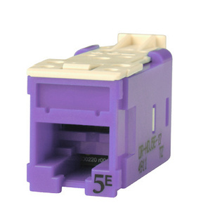 Clarity CAT5E High Density Jack,T568A/B, purple