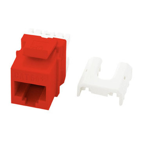 Cat 5e Quick Connect RJ45 Keystone Insert, Red