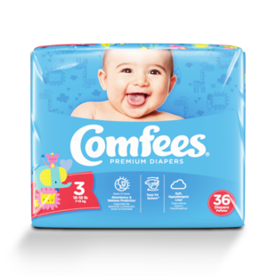 CMF-3 - Comfees Baby Diapers, Size 3, 36 count