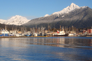Fishing boats in Sitka Harbor