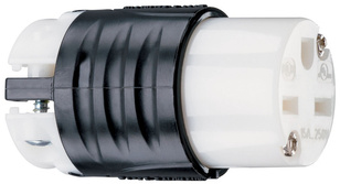 15A, 250V Extra-Hard Use Spec-Grade Connector, Black & White