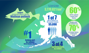 Alaska Fisheries Science Center Year in Review infographic