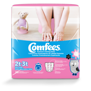 CMF-G2 - Comfees Training Pants Girls, 2T/3T, 26 count