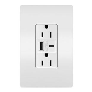 radiant® 15A Tamper-Resistant Ultra-Fast USB Type-A/C Outlet