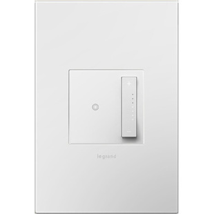 adorne® sofTap™ Tru-Universal Dimmer with Gloss White Wall Plate