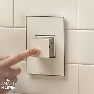 adorne Pop-Out™ Outlet and Gloss White Wall Plate