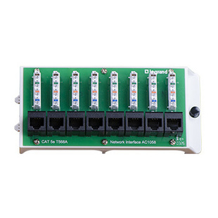 8 Port Cat5e Network Interface Module