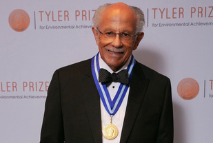 Warren Washington with the Tyler Prize