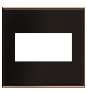 adorne® Oil-Rubbed Bronze Two-Gang Screwless Wall Plate