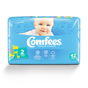 CMF-2 - Comfees Baby Diapers, Size 2, 42 count