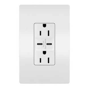 radiant® 15A Tamper-Resistant Ultra-Fast USB Type C/C Outlet