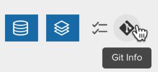 Git Info icon to display the Git Information pane