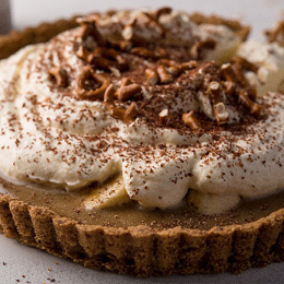 Coffee & Pretzel Crumb Banoffee Pie Recipe