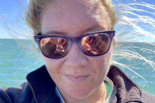 Selfie on the water.