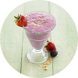 Smoothie de berries y avena