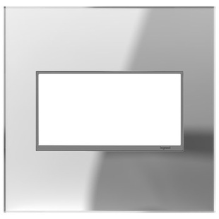 adorne® Mirror Two-Gang Screwless Wall Plate