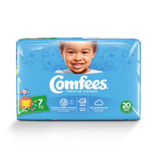 CMF-7 -  Comfees Baby Diapers, Size 7, 20 count