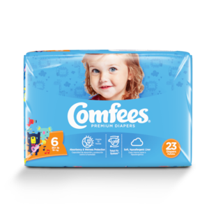 CMF-6 - Comfees Baby Diapers, Size 6, 23 count