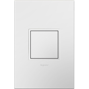 adorne® Pop-Out™ Outlet with Gloss White Wall Plate