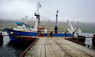 The F/V Royal American at port in Dutch Harbor