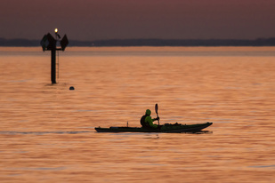 Kayaker on Chesapeake Bay