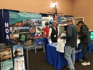 NOAA Fisheries outreach booth